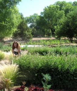 Owner Erin Wade of Los Portales Farm, Nambe