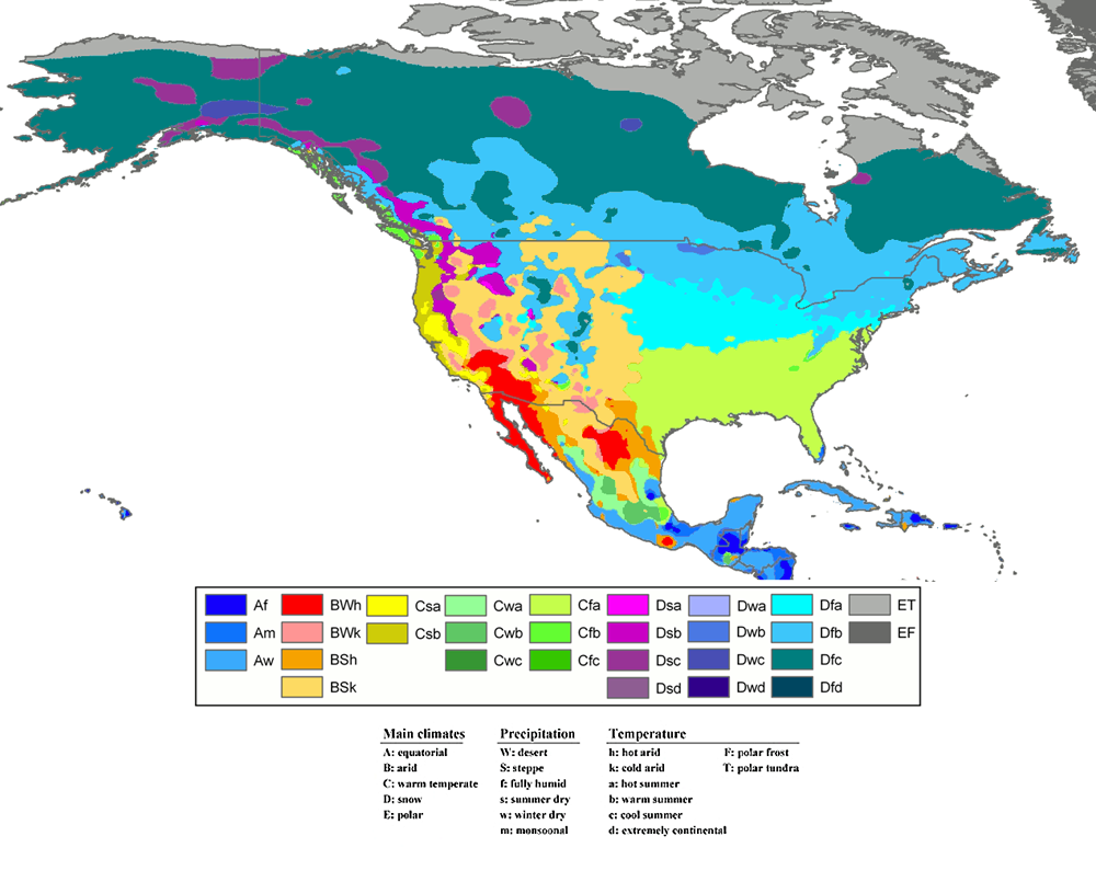What Is The Climate Of Santa Fe Santa Fe Botanical Garden - Mexico climate map